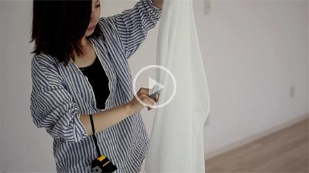 動画ムービー製作_flow fabric-磁石と61枚の布-